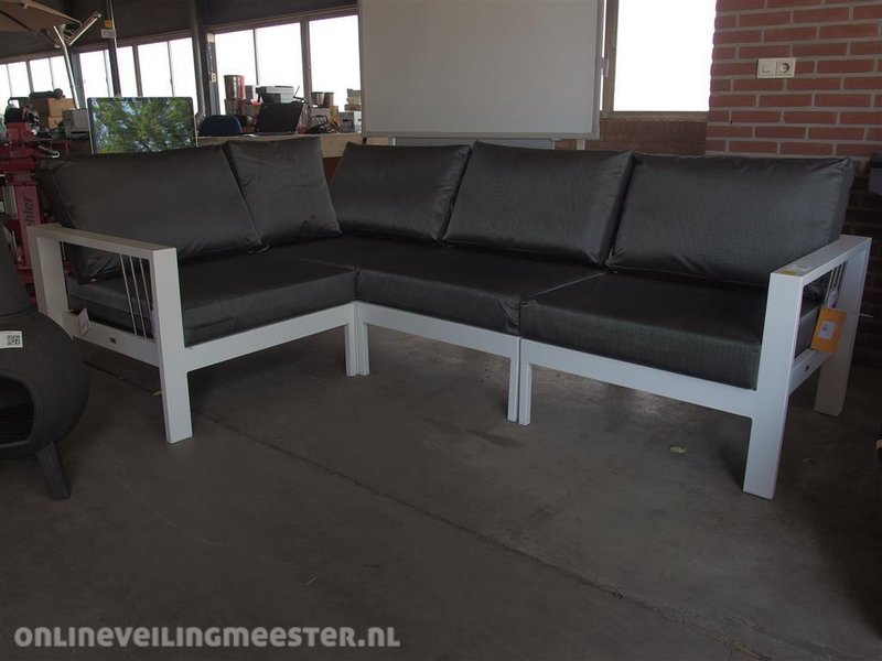 4 delige lounge set mikki life aluminium frame met ku. Black Bedroom Furniture Sets. Home Design Ideas